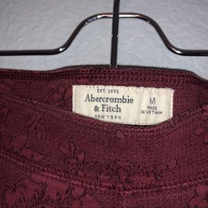 Abercrombie & Fitch Red Floral Thick Leggings